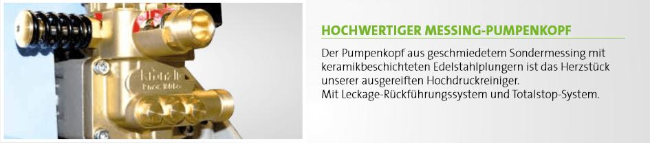 Messing-Pumpenkopf